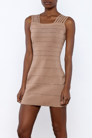 Griffin Camel Bandage Dress - Product Mini Image