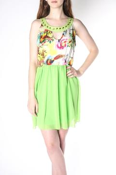 Shoptiques Product: Lime Babydoll Dress
