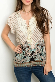 Grifflin Paris Paisley Multi Top - Product Mini Image