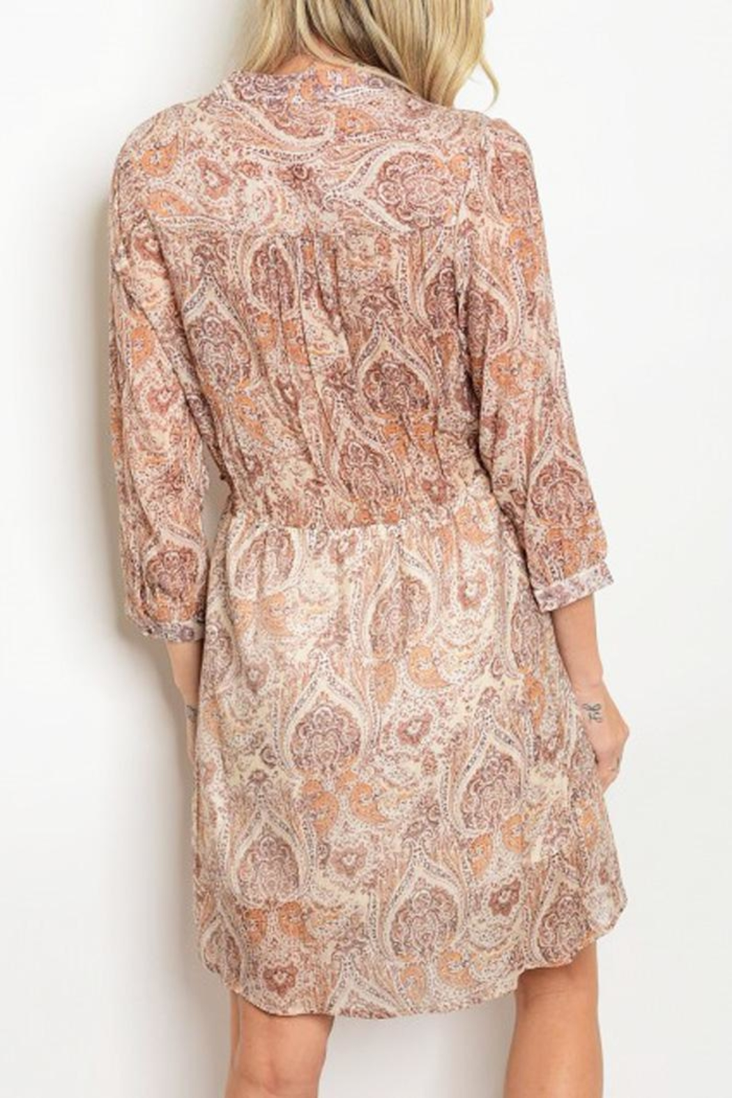 Grifflin Paris Paisley Wrap Dress - Front Full Image