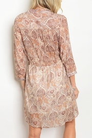 Grifflin Paris Paisley Wrap Dress - Front full body