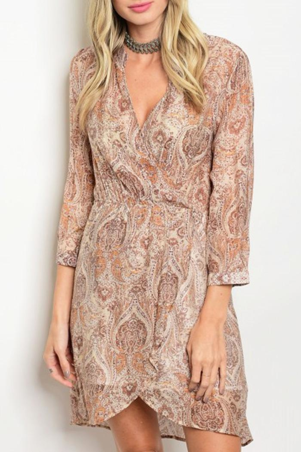 Grifflin Paris Paisley Wrap Dress - Main Image