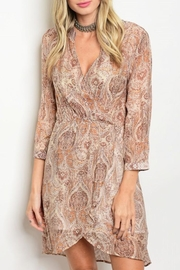 Grifflin Paris Paisley Wrap Dress - Product Mini Image
