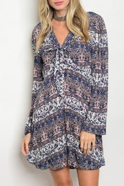 Grifflin Paris Paisleyesq Tunic Dress - Product Mini Image