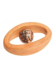 Grimm's Toys Leo Birthstone Rattle - Front cropped