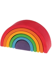Grimm's Toys Wooden Stacking Rainbow - Product Mini Image