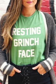 Bella Canvas Grinch Face Tshirt - Front full body