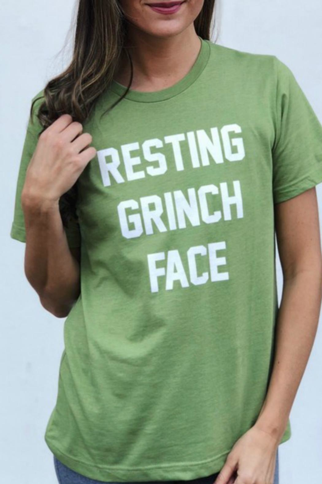Bella Canvas Grinch Face Tshirt - Front Cropped Image
