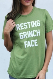 Bella Canvas Grinch Face Tshirt - Front cropped