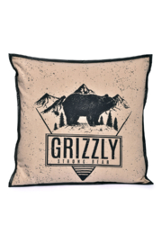 Cott N Curls Grizzly Bear Pillow - Product Mini Image
