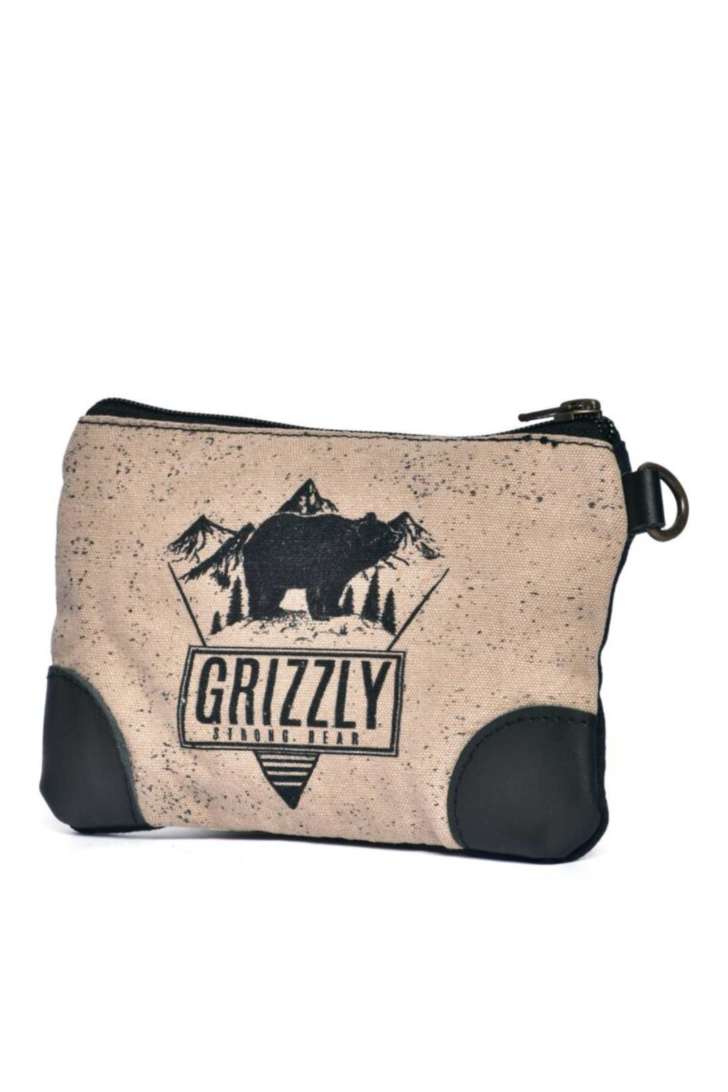 Cott N Curls Grizzly Bear Wristlet - Front Full Image