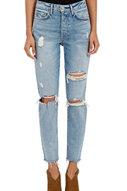 GRLFRND Distressed High Rise Jeans - Product Mini Image