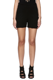 Groceries Apparel Black High Waisted Short - Side cropped