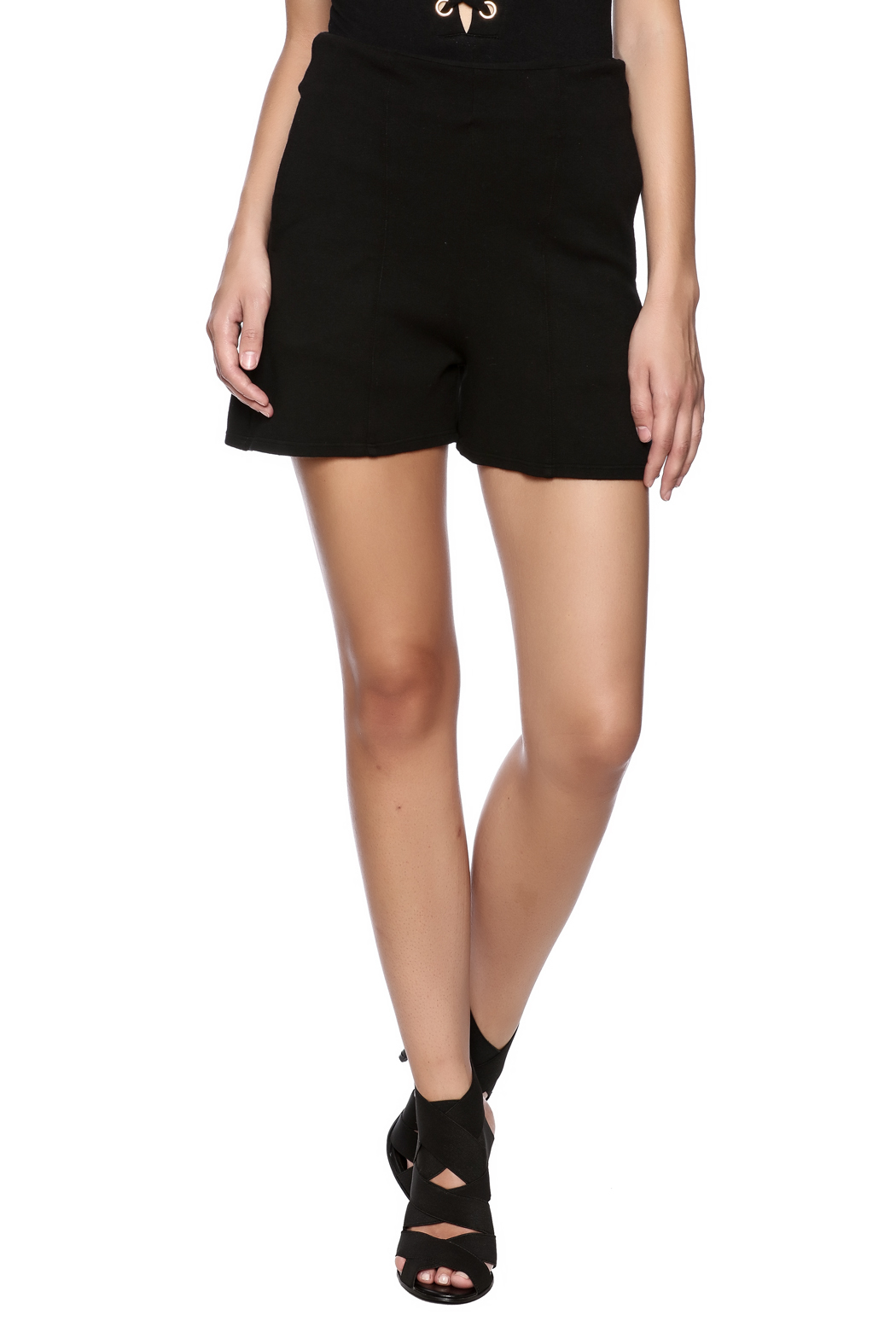 Groceries Apparel Black High Waisted Short - Main Image