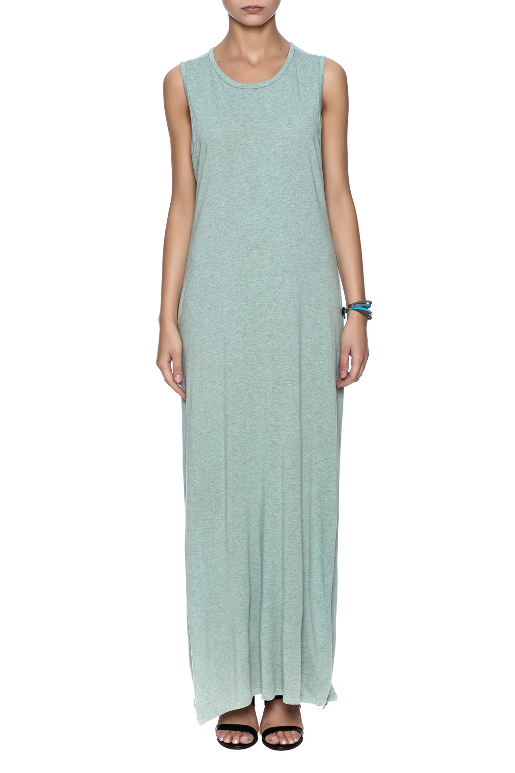 Groceries Apparel Corkscrew Maxi Dress - Front Cropped Image