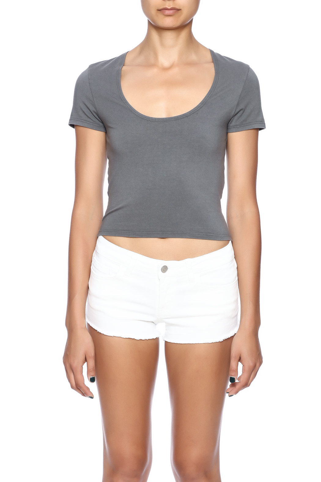 4ffd6454afe Groceries Apparel Cropped Tee from New York by Luna — Shoptiques