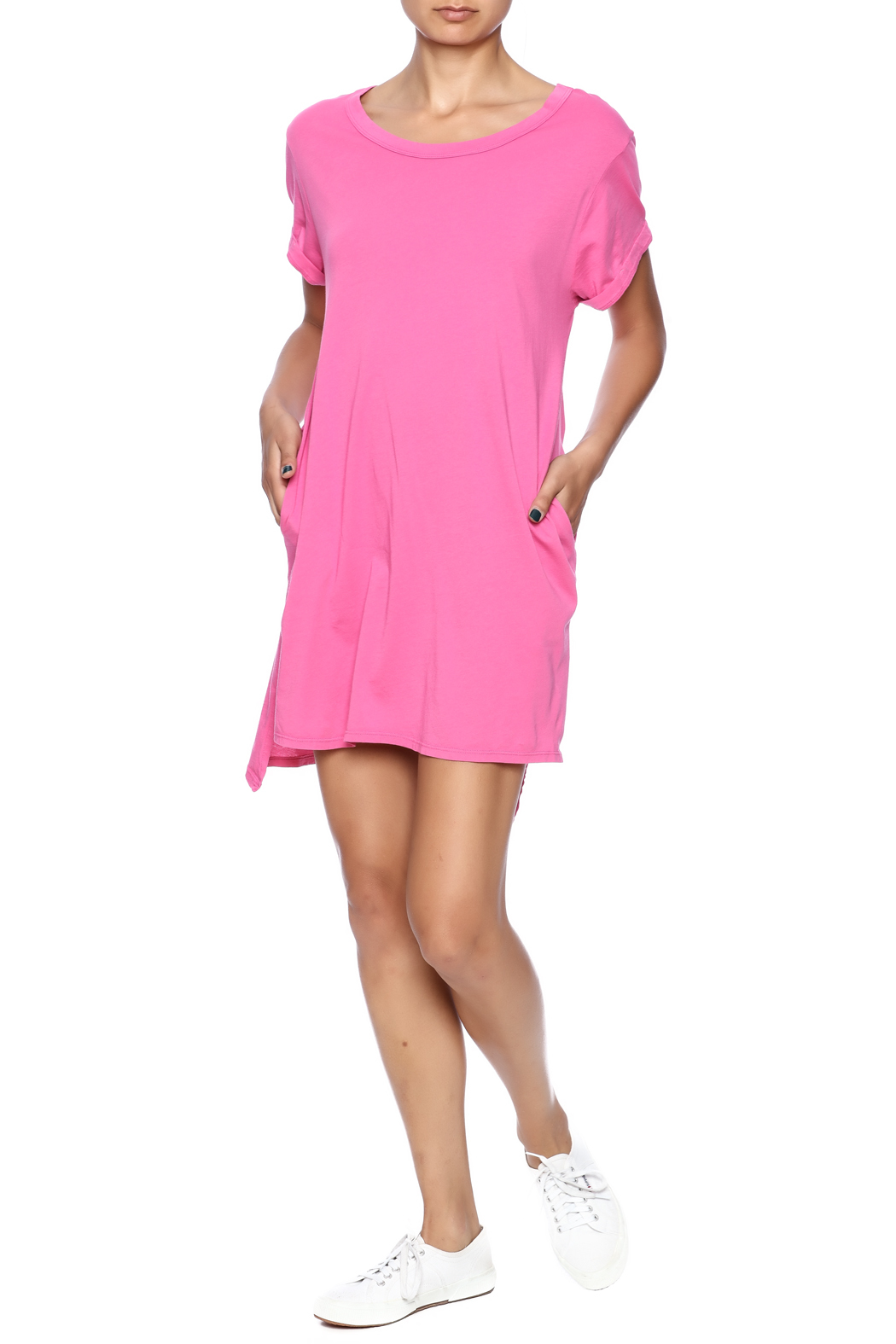 Groceries Apparel Sally Tee Dress - Front Full Image