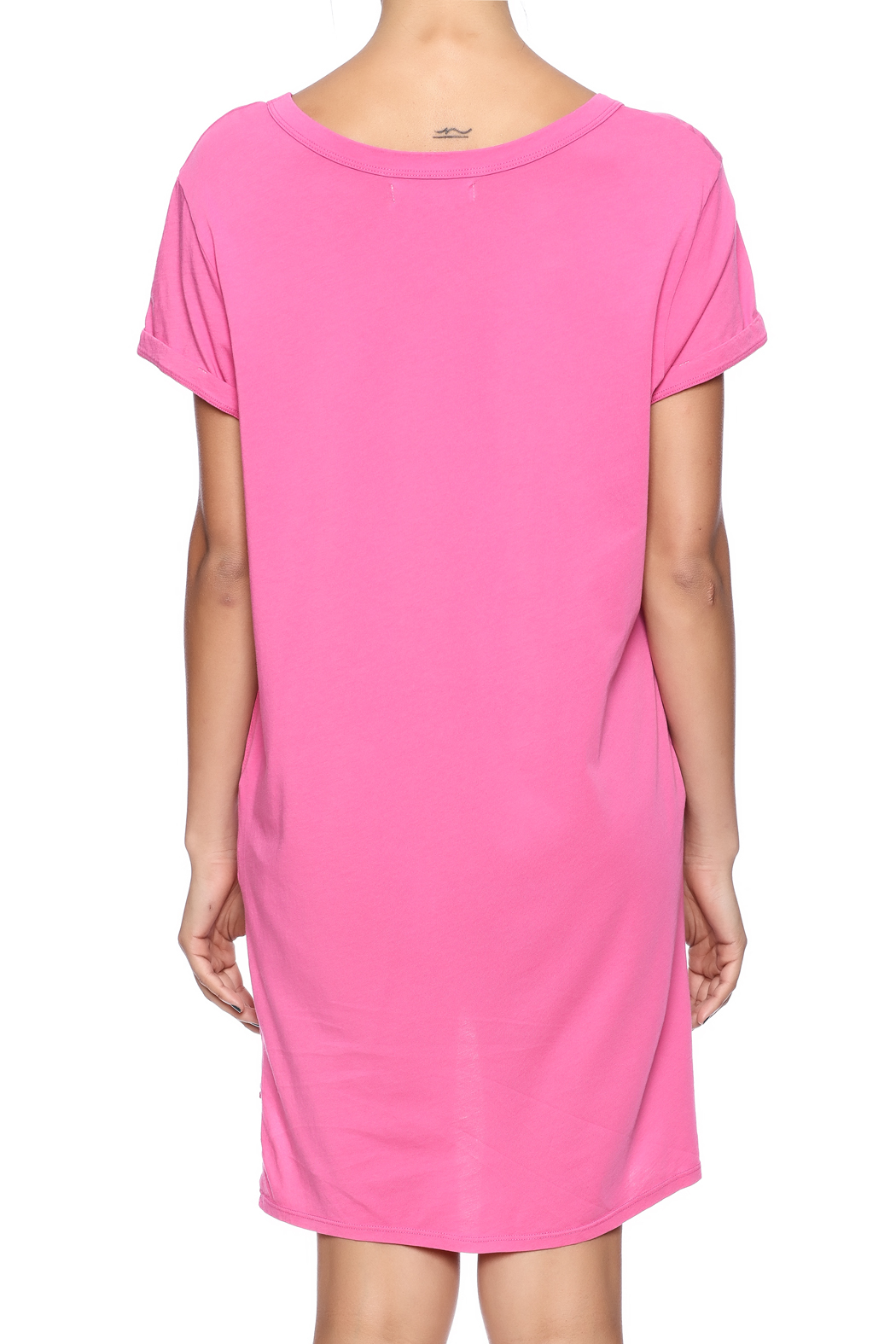 Groceries Apparel Sally Tee Dress - Back Cropped Image
