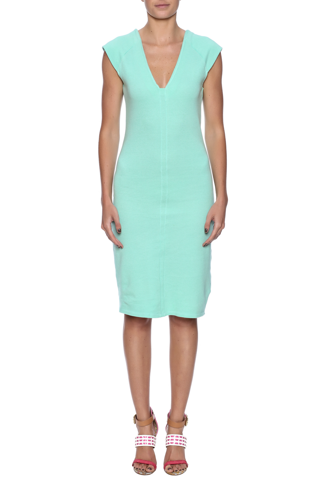 Groceries Apparel Spritz Midi Dress - Front Cropped Image