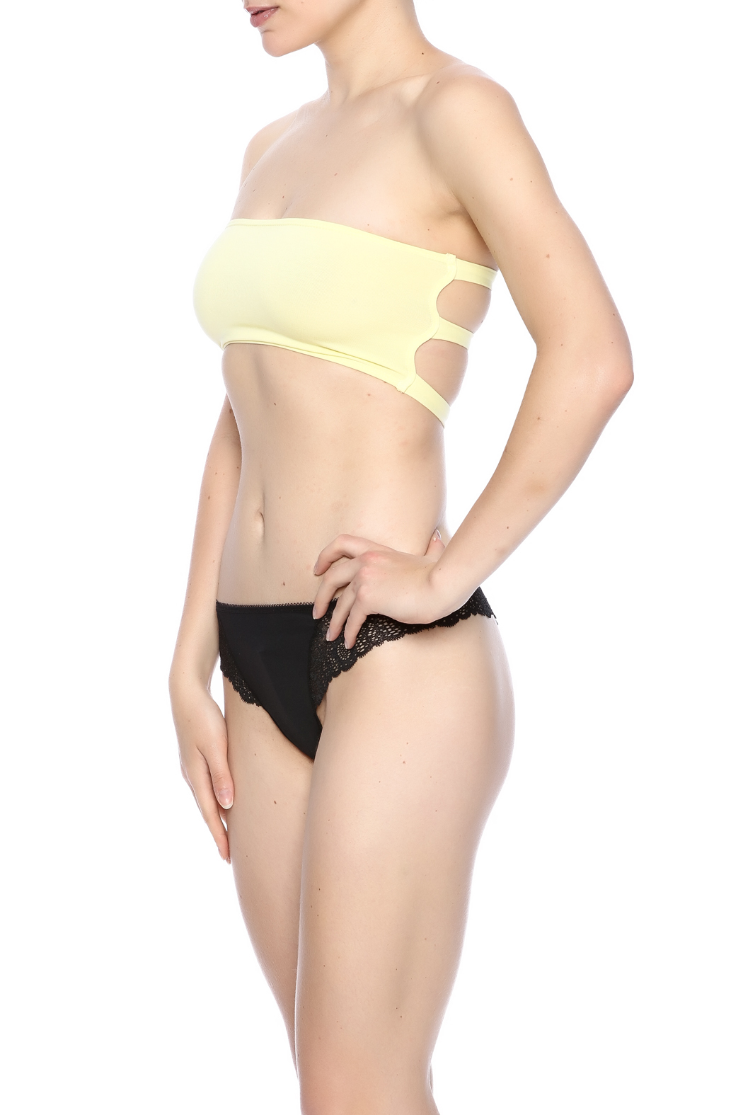 Groceries Apparel Strappy Bandeau - Front Cropped Image