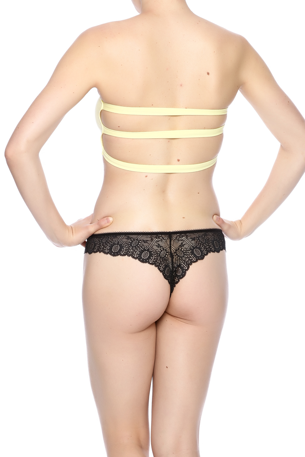 Groceries Apparel Strappy Bandeau - Back Cropped Image
