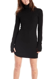 Groceries Apparel Ribbed Turtle-Neck Dress - Product Mini Image