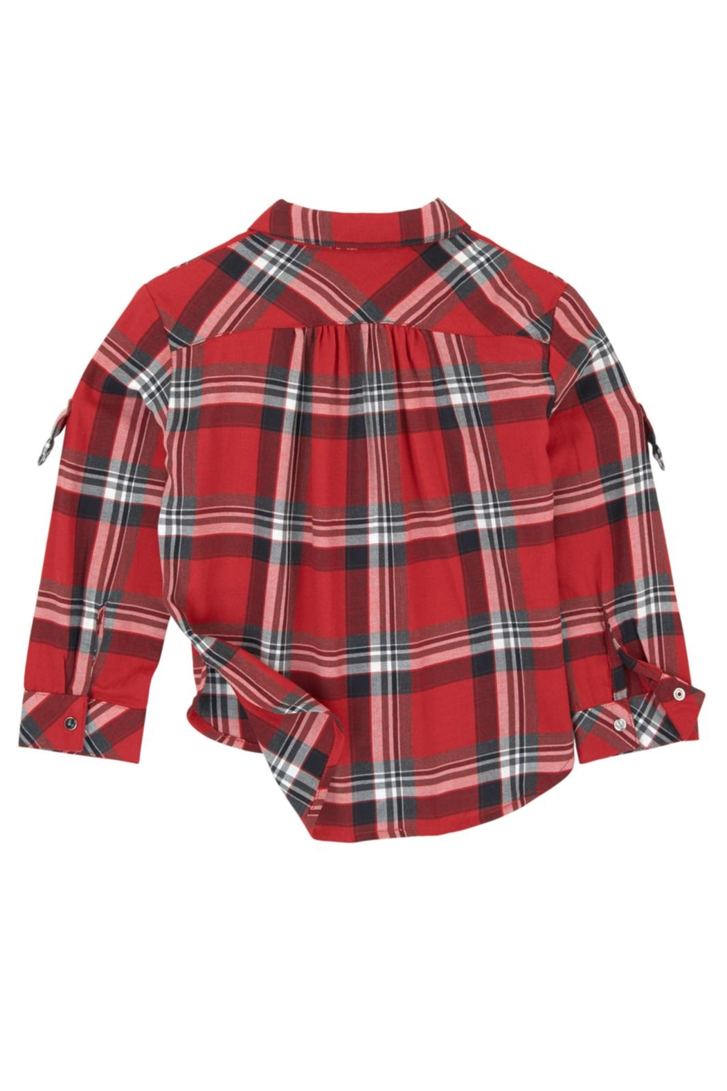 Mayoral Grommet Plaid Blouse - Front Full Image