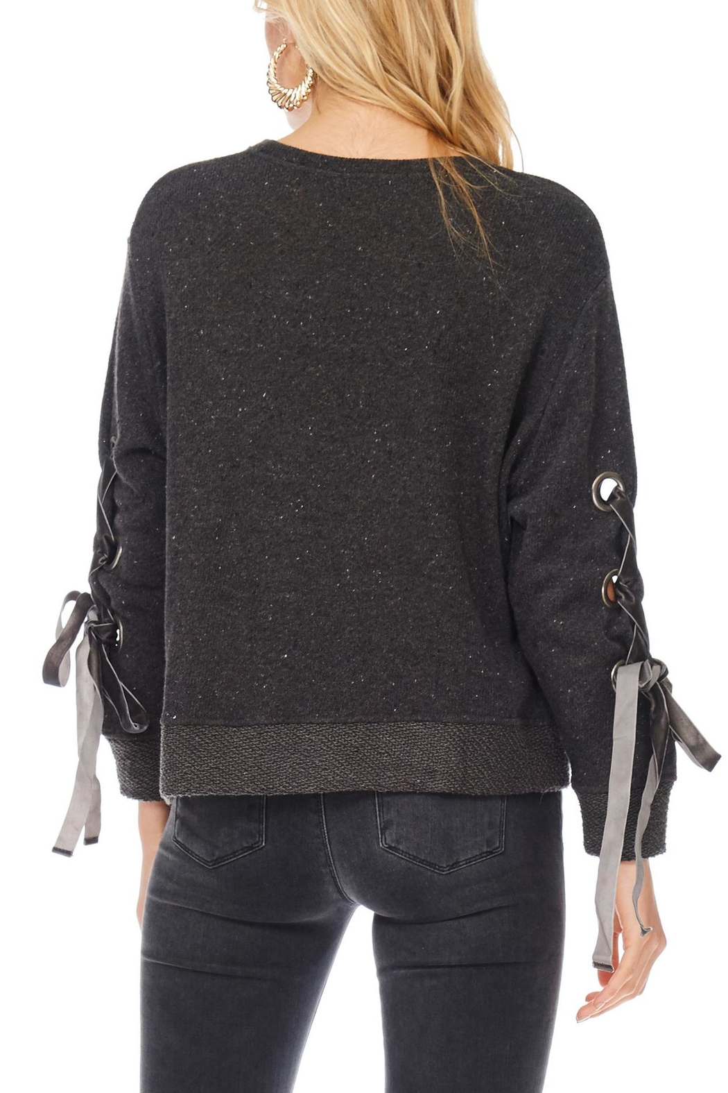 Anama Grommet Sleeve Sweater - Side Cropped Image