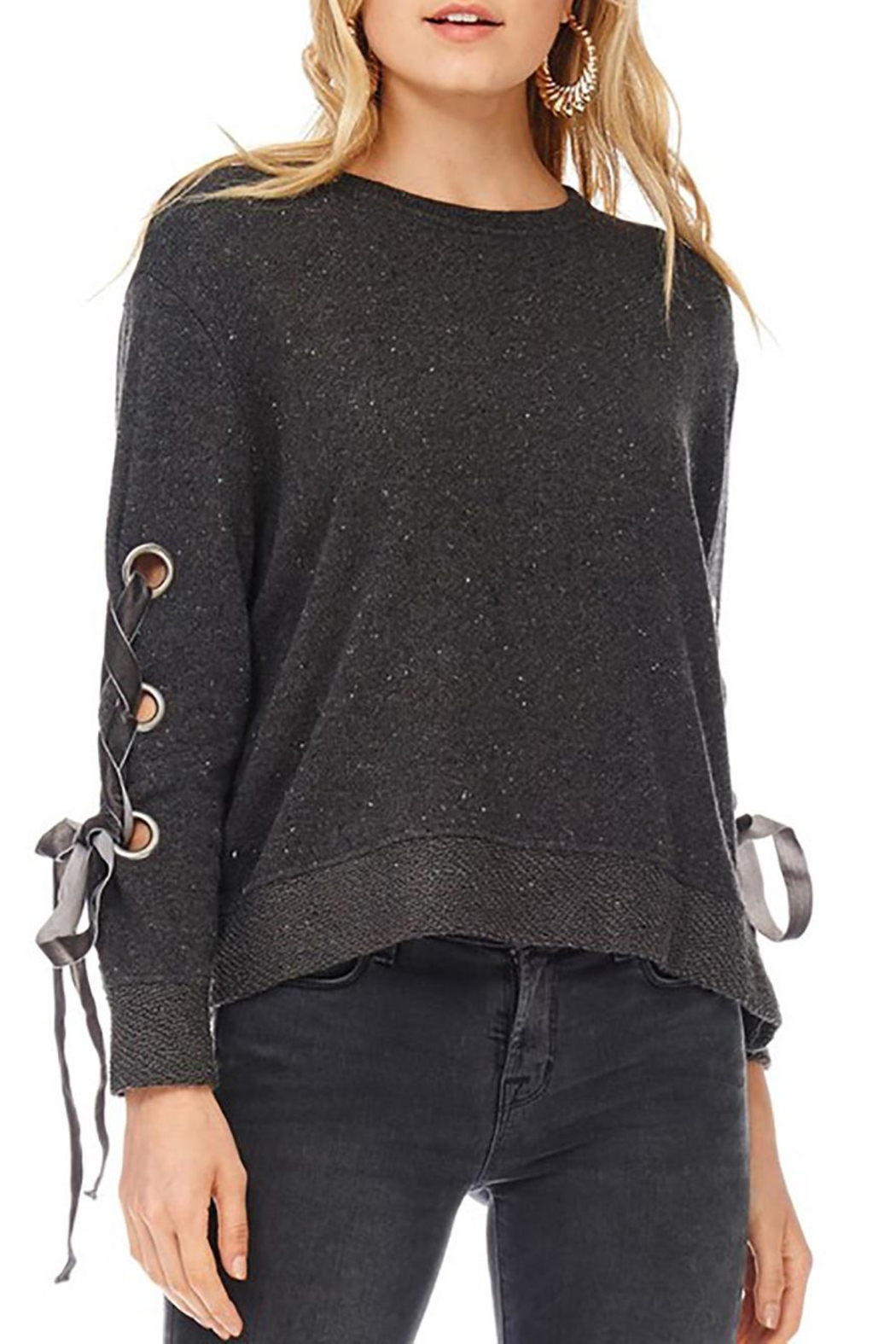 Anama Grommet Sleeve Sweater - Main Image