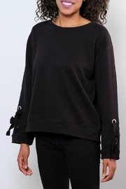 Elan Grommet Tie-Sleeve Sweatshirt - Product Mini Image