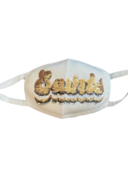 Sparkle City Groovy Gameday Mask - Front cropped