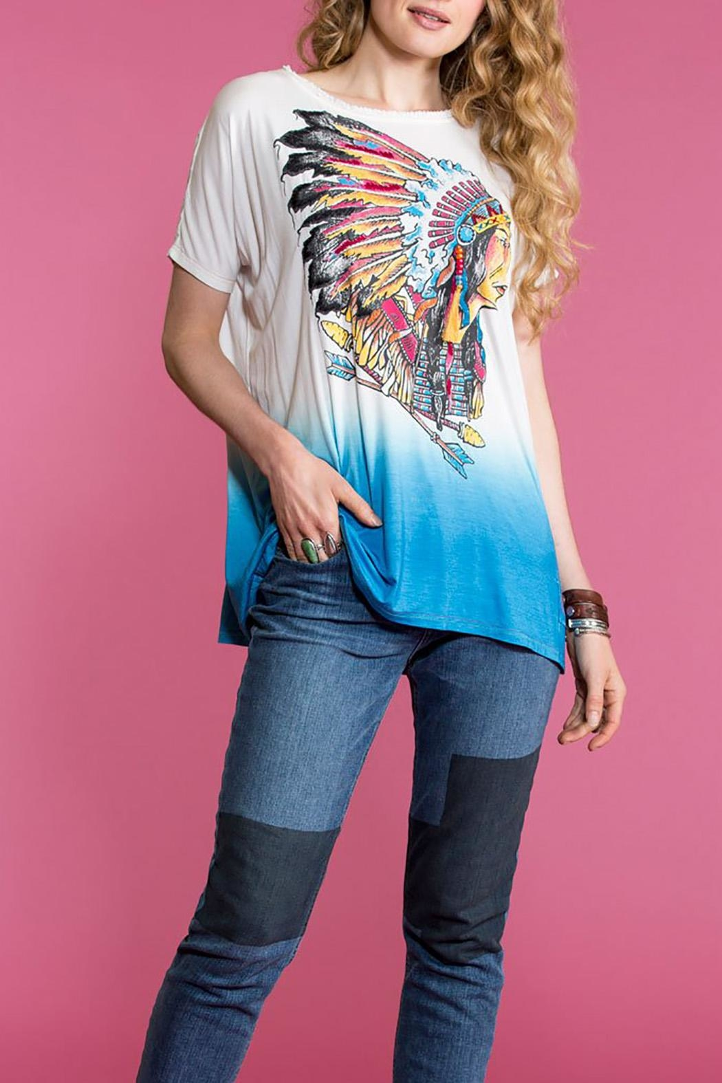 Double D Ranchwear Groovy Man Top - Front Cropped Image