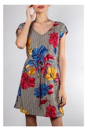 rokoko Groovy-Striped Floral Dress - Product Mini Image