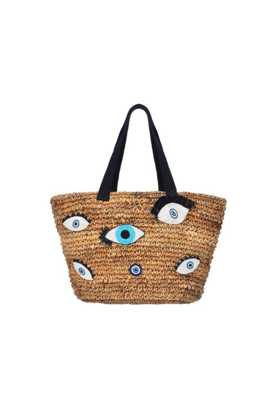 Guadalupe Design Evil Eye Tote - Front Cropped Image