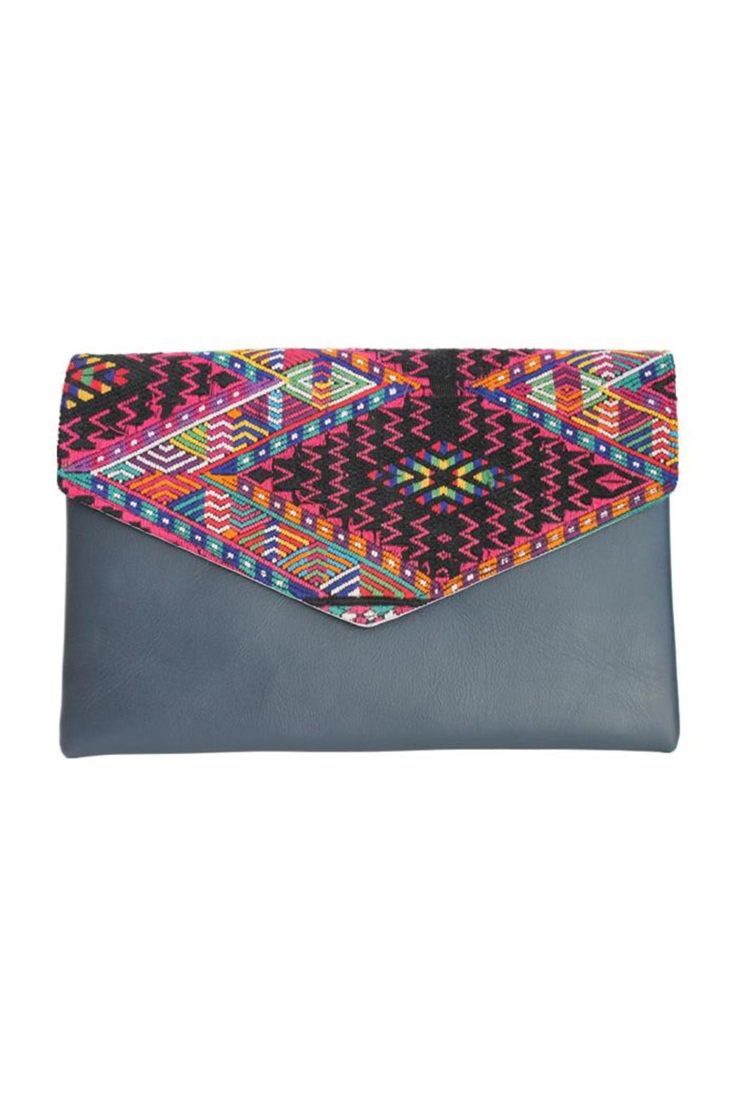 Guat Leather Mayan Clutch - Main Image