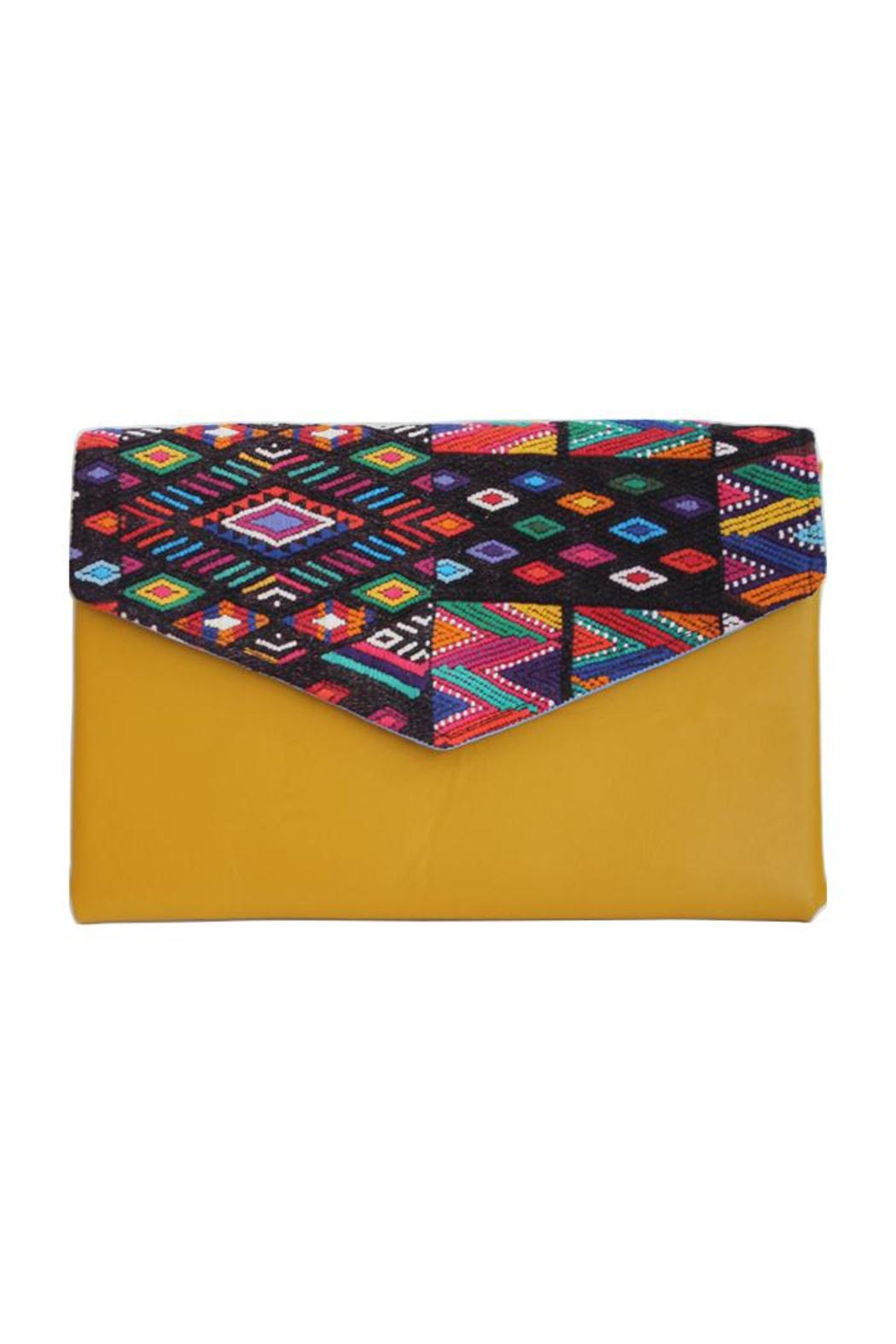 Guat Leather Mayan Clutch - Front Cropped Image