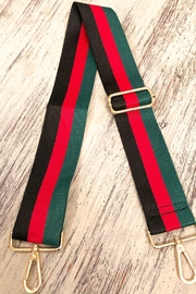 Ahdorned Gucci Inspired Stripe Bag Strap - Front cropped