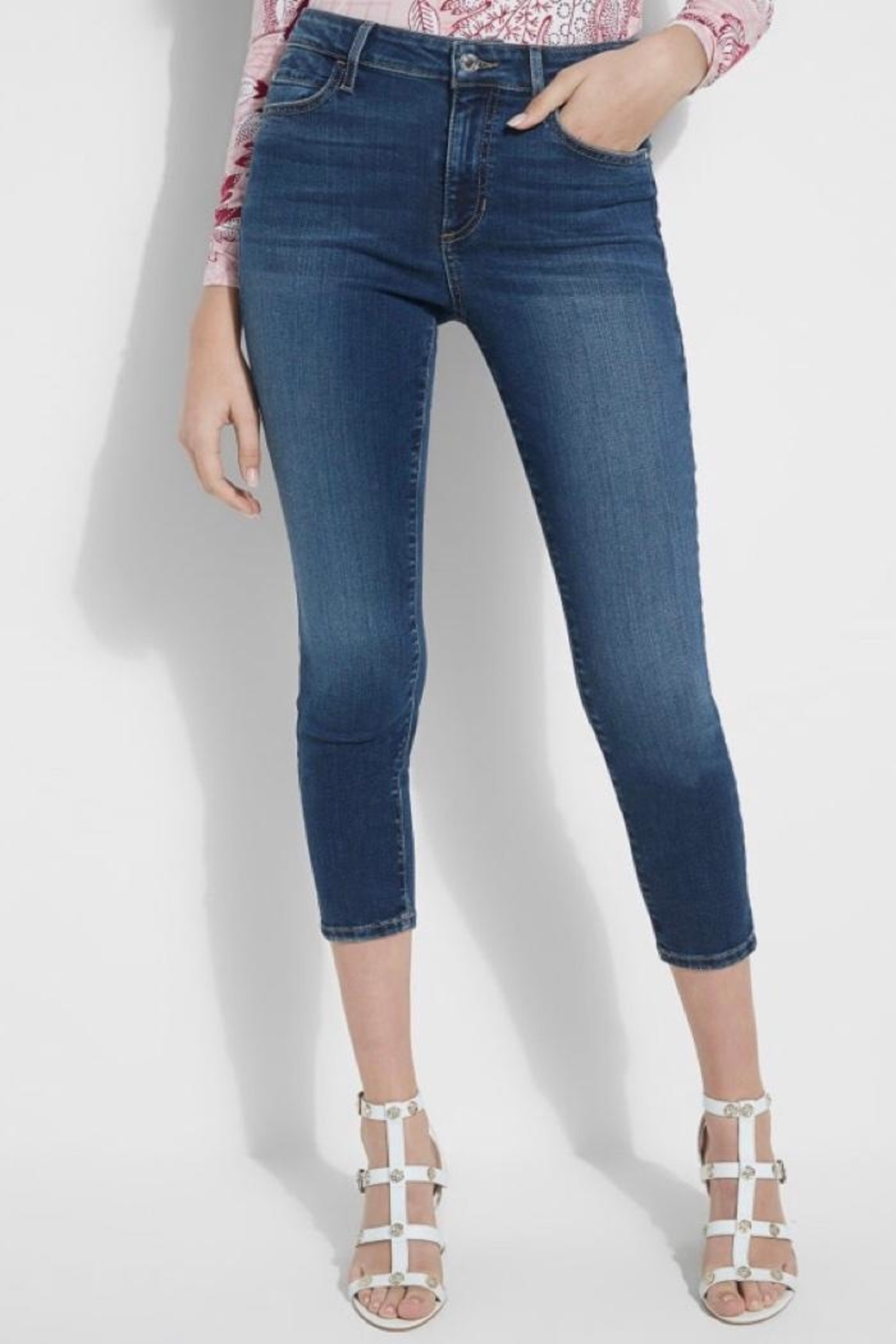 Guess Eco 1981 Cropped High Rise Skinny - Main Image