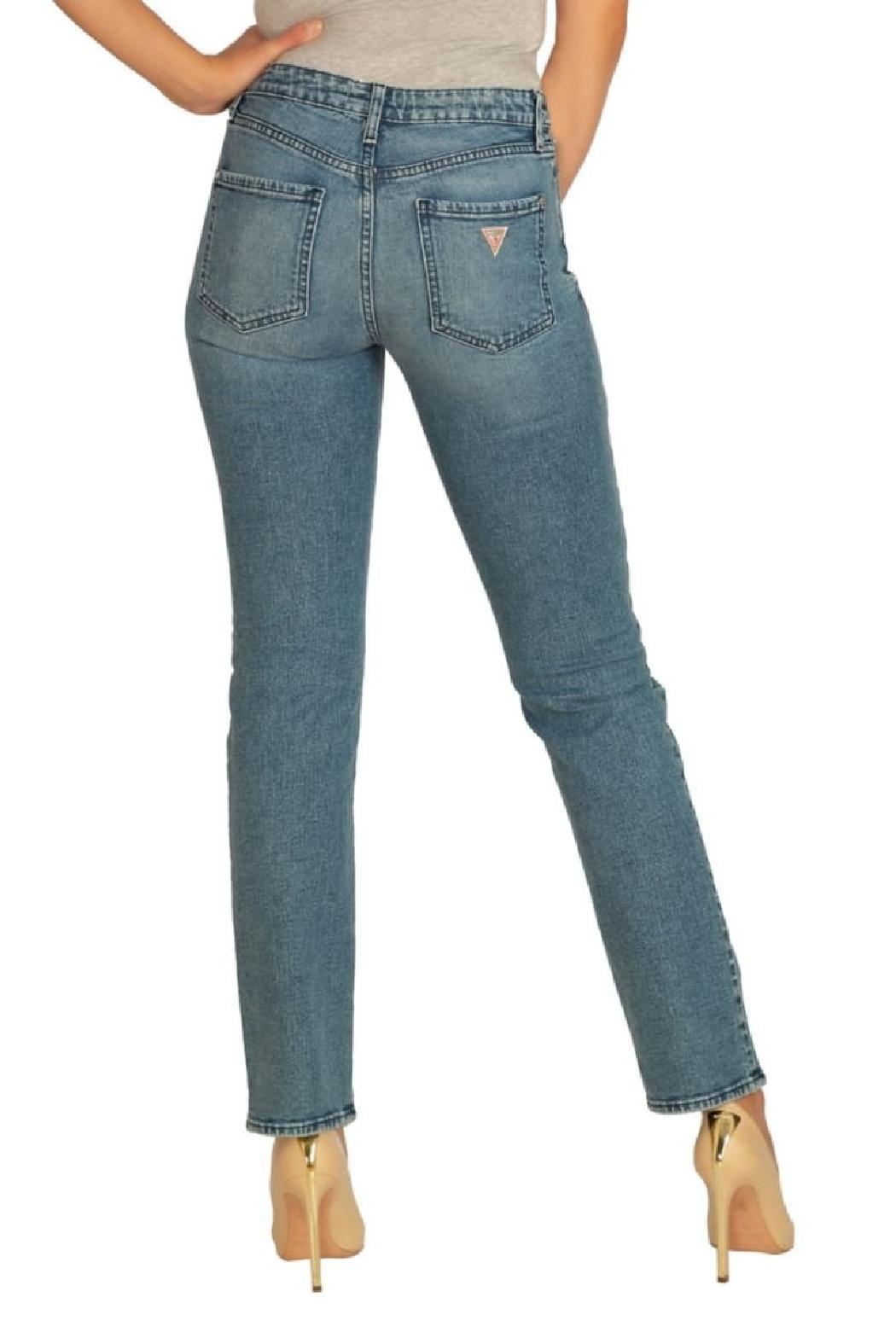 GUESS Jeans Guess 1981 Straing-Leg Jeans - Front Full Image