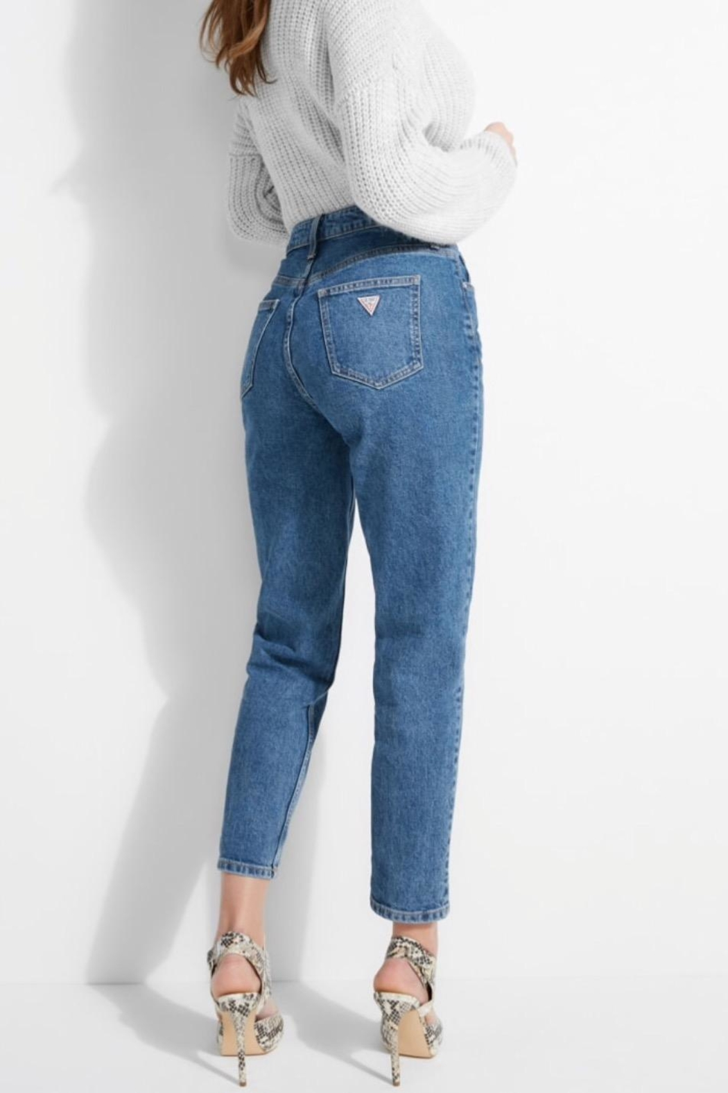 GUESS Jeans Super High Rise Mom Jeans - Back Cropped Image