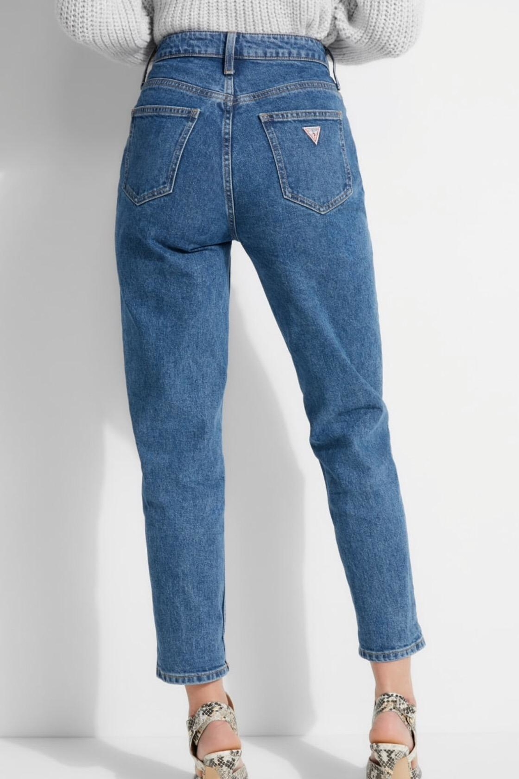 GUESS Jeans Super High Rise Mom Jeans - Front Full Image