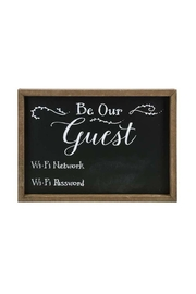 Ganz Guest Chalkboard Sign - Product Mini Image