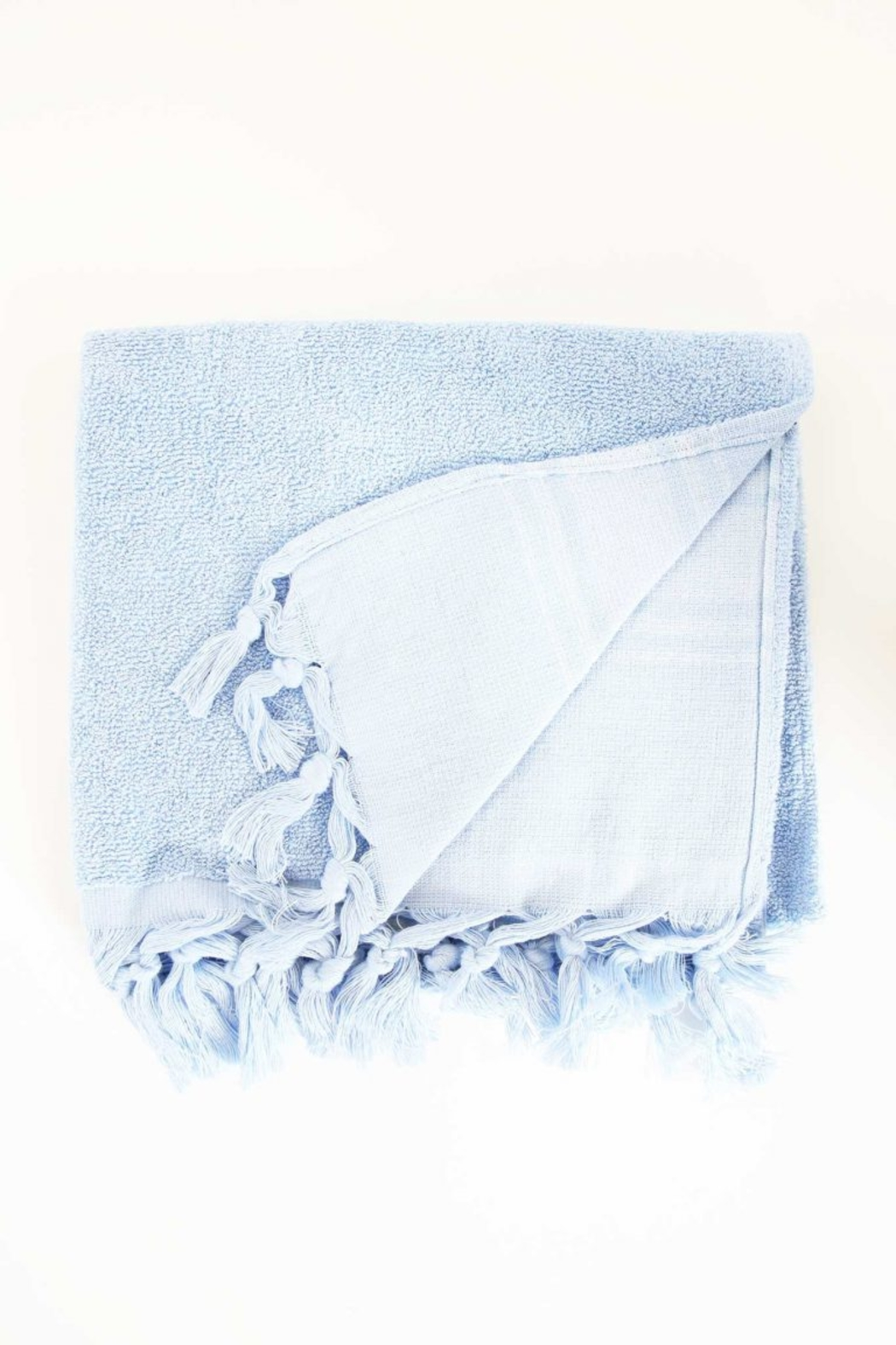 The Birds Nest GUEST TOWEL - LIGHT TERRY CANVAS (SERENITY BLUE) - Main Image