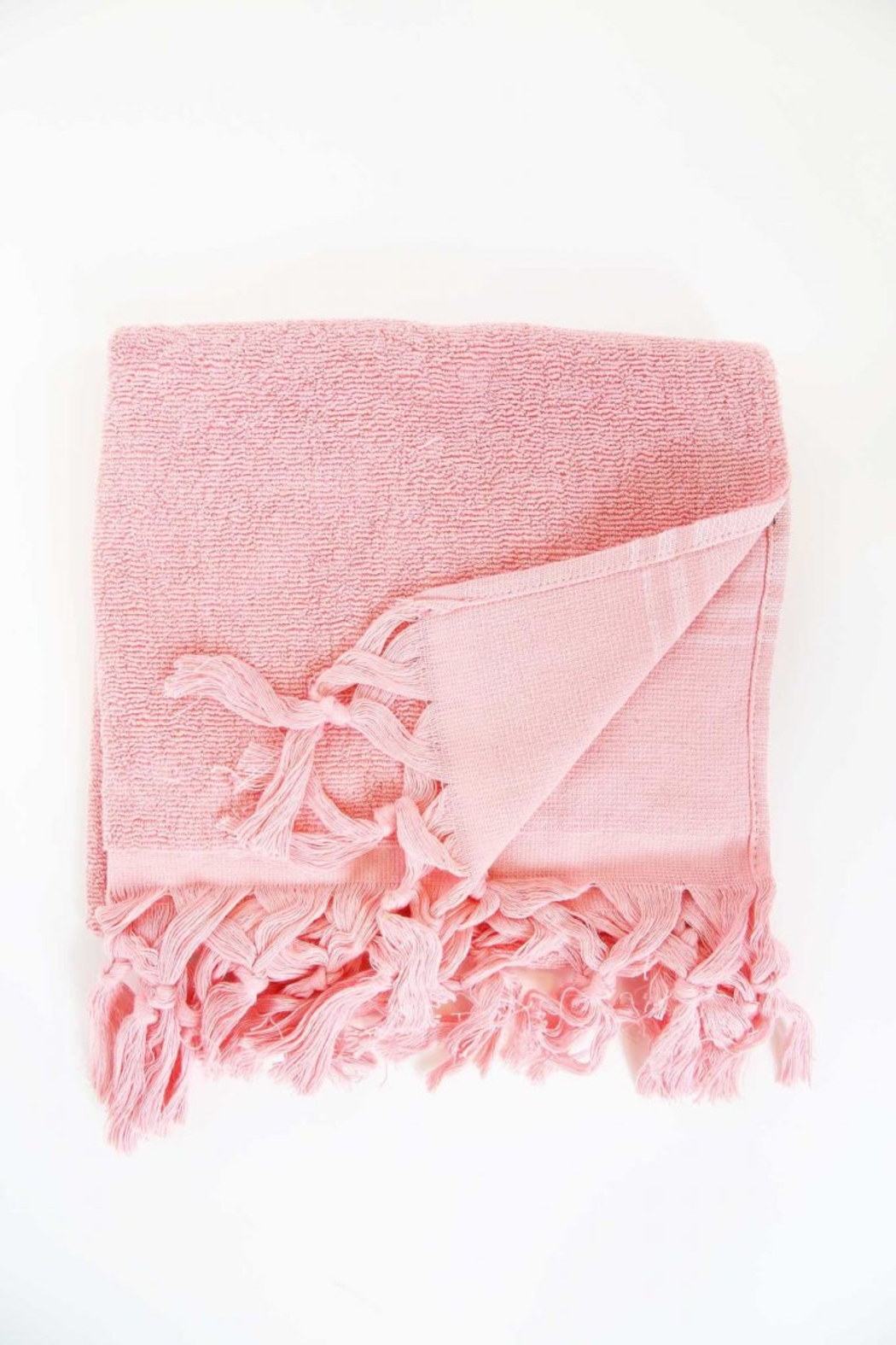 The Birds Nest GUEST TOWEL - LIGHT TERRY CANVAS (STRAWBERRY) - Main Image