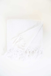 The Birds Nest GUEST TOWEL - LIGHT TERRY CANVAS (WHITE) - Front cropped