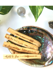 Fractalista Designs Guidance Etched Palo Santo - Product Mini Image