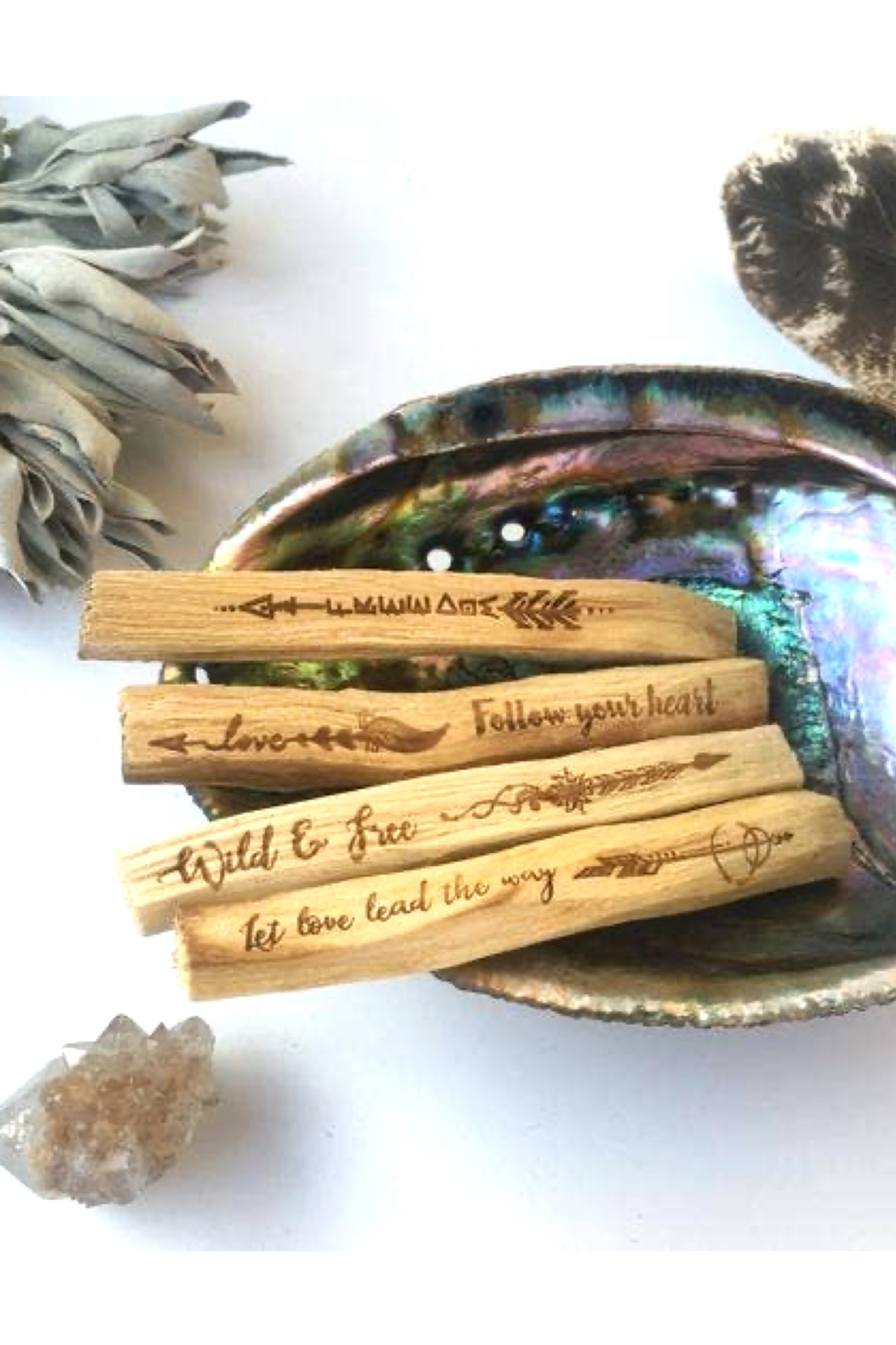Fractalista Designs Guidance Etched Palo Santo - Front Full Image