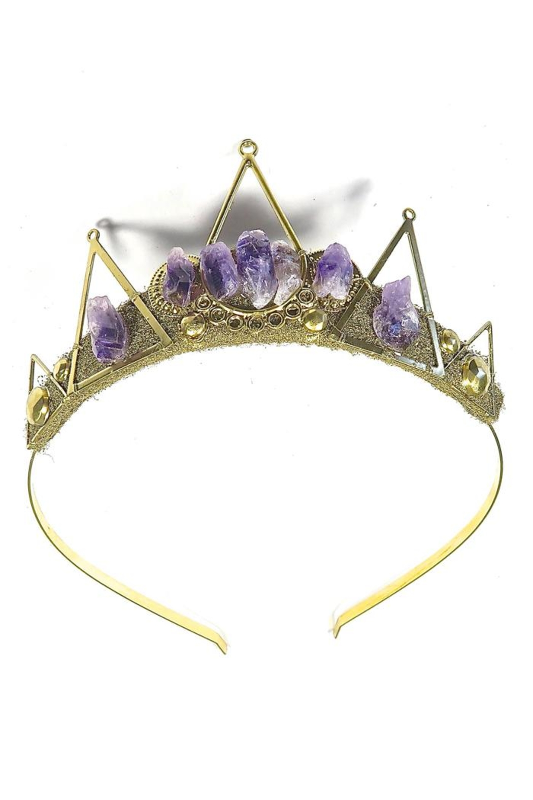 Loschy Guinevere Amethyst Tiara - Front Cropped Image