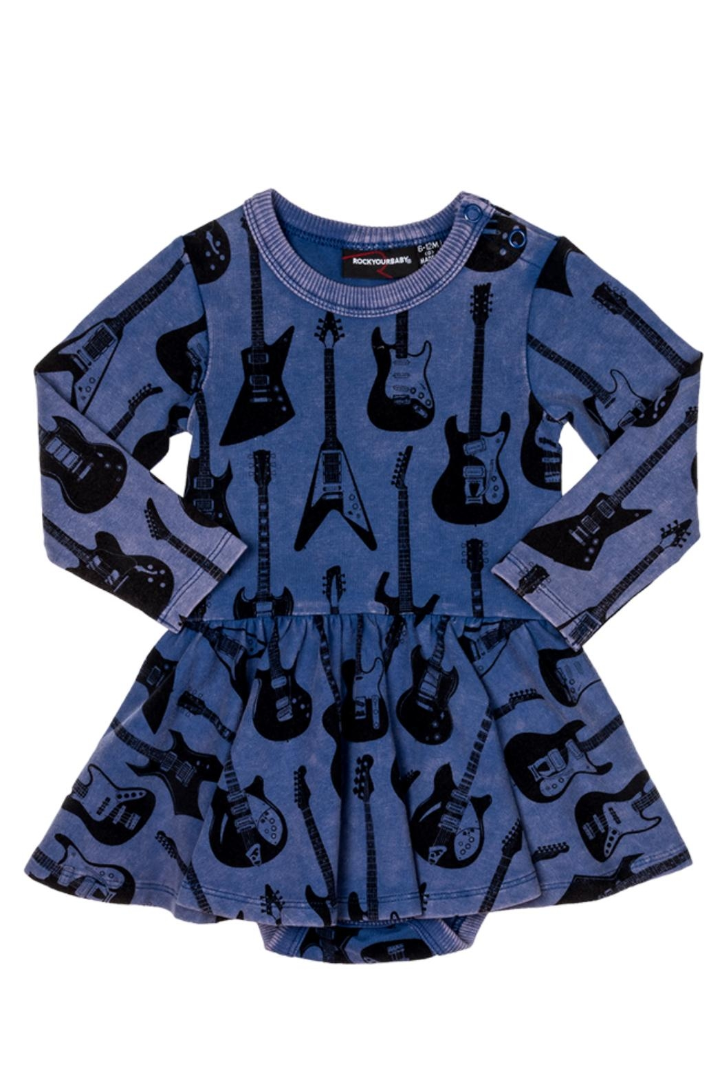 Rock Your Baby Guitar Baby Dress - Main Image