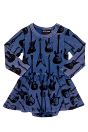 Rock Your Baby Guitar Baby Dress - Front cropped